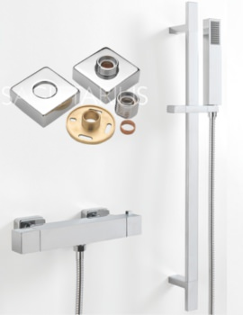 Sagittarius Stark Cube Exposed Easy Fit Thermostatic Valve And Slide Rail