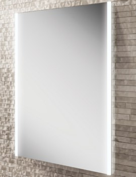 HIB Zircon 60 Portrait LED Illuminated Bathroom Mirror 600 x 800mm