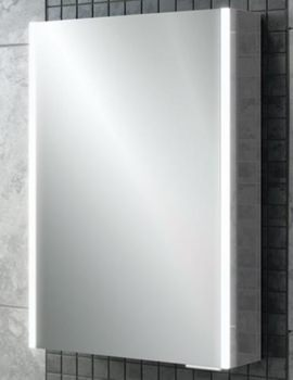 HiB Xenon 50 Single Door LED Bathroom Cabinet 505 x 700 x 130mm