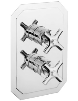 Crosswater Waldorf Crosshead Portrait Thermostatic Valve With 2 Way Diverter