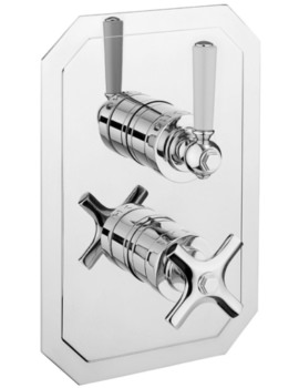 Crosswater Waldorf White Lever Portrait Thermostatic Valve With 2W Diverter