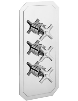 Crosswater Waldorf Crosshead Portrait Thermostatic Valve With 3 Way Diverter