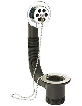 Sagittarius Bath Waste And Overflow With Stainless Flange And Poly Plug