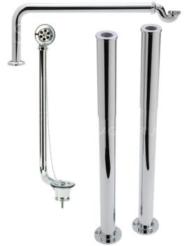Sagittarius Luxury Roll Top Bath Plumbing Pack Chrome