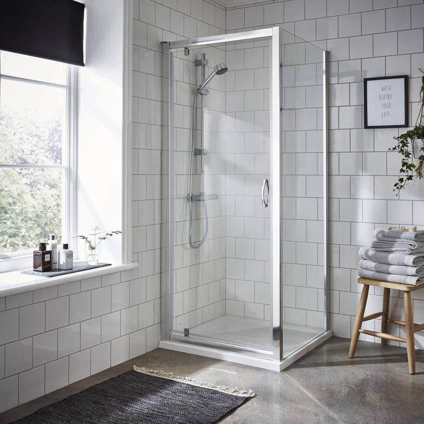 Lauren Ella 760 X 1850mm Pivot Shower Door
