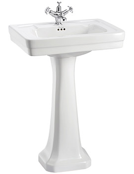 Burlington Contemporary 580mm Basin And Full Pedestal