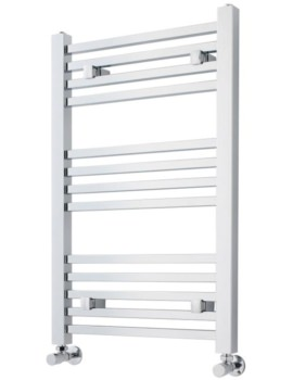 Premier 500 x 800mm Chrome Square Heated Towel Rail