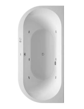 Duravit Darling New 1900mm Back To Wall Bath With Panel And Jet System