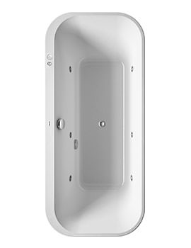 Duravit Happy D2 Lay-On 1800 x 800mm Bath - Jet-System