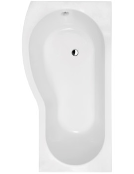 Lauren Curved B-Shaped 1500 x 900mm Left Hand Acrylic Shower Bath