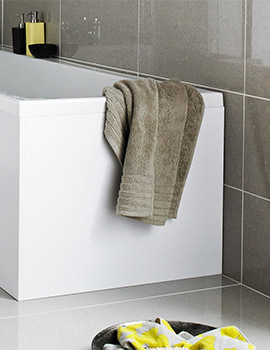 Premier White MDF Shower Bath End Panel 680mm