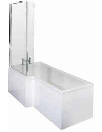 Lauren Square 1700 x 850mm Left Hand Acrylic Shower Bath Pack