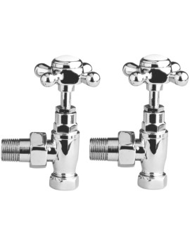 Lauren Crosshead Pair Of Angled Radiator Valves