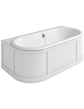 Burlington London Back-To-Wall Bath With Curved Surround 1800 x 950mm