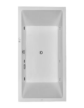 Duravit Starck Bath 1800mm Bath With 2 Backrest Slope And Jet System
