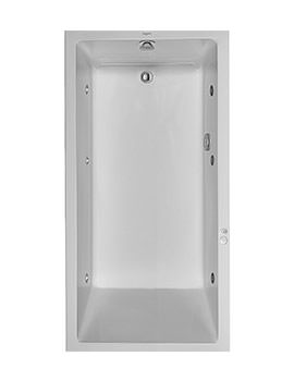 Duravit Starck Bath 1800mm Bath With 1 Backrest Slope And Jet System