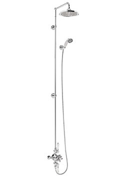 Burlington Avon Two Outlet Exposed Thermostatic Extended Shower Set
