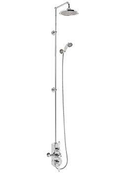 Burlington Spey Two Outlet Exposed Thermostatic Extended Shower Set