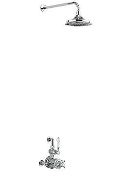 Burlington Avon Exposed Thermostatic Valve With Fixed Arm And Shower Head
