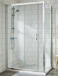 Lauren Ella 1200 x 1850mm Single Sliding Shower Door