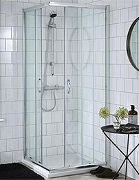 Lauren Ella Corner Entry 760 x 760mm Shower Enclosure