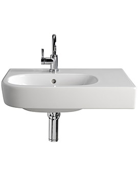 Twyford Quinta 800mm 1TH Washbasin With Right Hand Shelf Space - EX-DISPLAY
