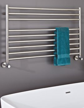 Phoenix Zonta 1200 x 600mm Pre-Filled Electric Radiator Stainless Steel