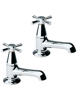 Twyford Rival Pair Of Bath Pillar Taps - EX-DISPLAY