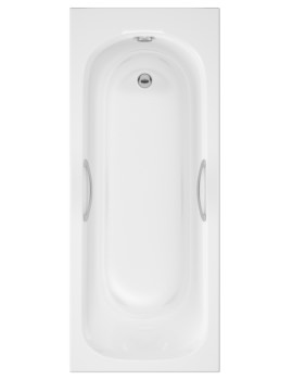 Beo Access 1600 x 700mm Single Ended Acrylic Bath With Grips