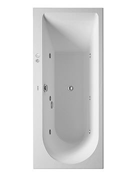 Duravit Darling New 1600 x 700mm Bath With Left Slope And Jet-System