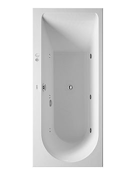 Duravit Darling New 1700 x 750mm Bath With Left Slope And Jet-System