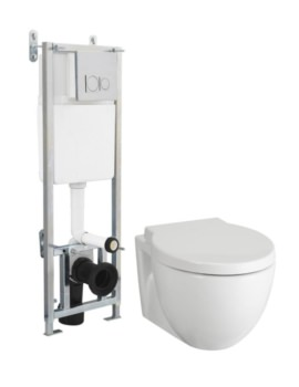 Beo Unity Wall Hung WC With Cistern And Soft Close Seat