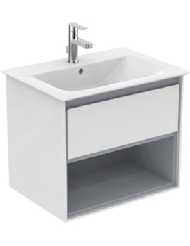 Ideal Standard Concept Air 600mm Wall 1 Drawer With Open Shelf Vanity Unit