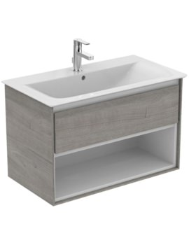 Ideal Standard Concept Air 800mm Wall 1 Drawer With Open Shelf Vanity Unit