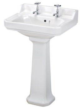 Beo Ambience 2 Tap Hole 560mm Basin And Full Pedestal