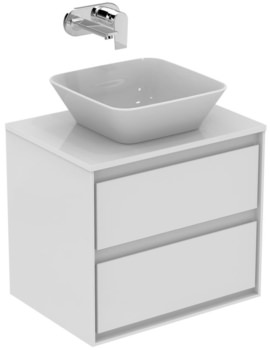 Ideal Standard Concept Air 600mm Wall 2 Drawers Vanity Unit With Worktop