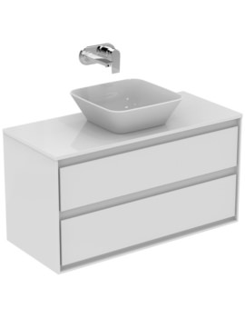 Ideal Standard Concept Air 1000mm Wall 2 Drawers Vanity Unit With Worktop