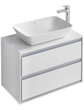 Ideal Standard Concept Air 800mm Wall 2 Drawers Vanity Unit With Worktop