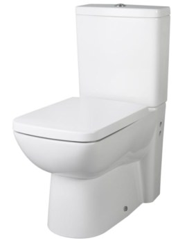 Beo Brace Flush To Wall Close Coupled WC With Cistern And Seat 640mm