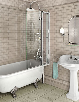 Burlington 850 x 1450mm Bath Screen With Access Panel