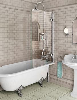 Burlington Shower Bath Screen - W 850 x H 1450mm