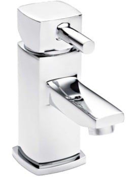 Beo Cube Mini Basin Mixer Tap With Push Button Waste