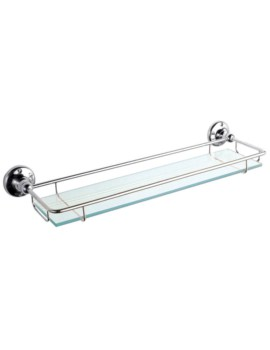 Premier Traditional Glass Gallery Shelf Chrome