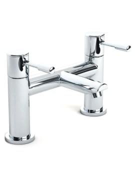 Beo Slip Deck Mounted Bath Filler Tap Chrome