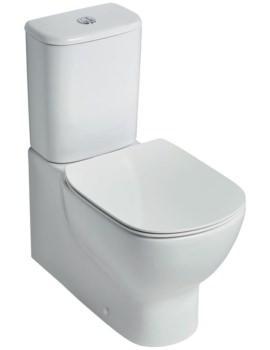 Ideal Standard Tesi Aquablade 665mm Close Coupled Back-To-Wall WC Pan