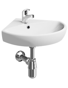 Twyford E100 500 x 500mm 1 Hole Handrinse Basin