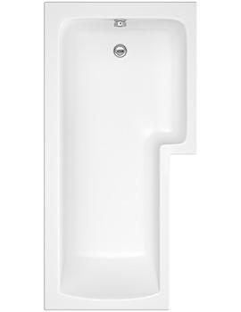 Pura SQR 1700 x 850mm Right Hand Shower Bath