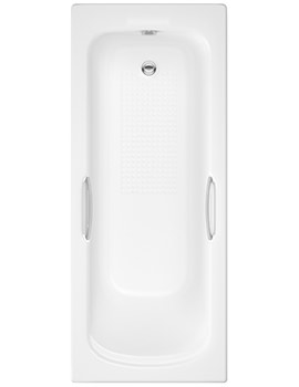 Pura Ivo 1700 x 700mm Single Ended Bath With Grips And Anti-Slip