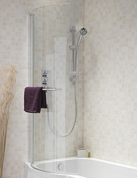 Pura Curve Left Or Right Hand Universal Shower Bath Screen
