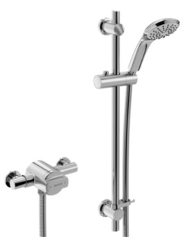 Bristan Quest Thermostatic Exposed Single Control Shower Valve With Riser Kit
